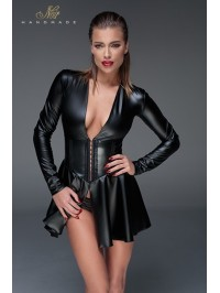 Minirobe corset wet look F154
