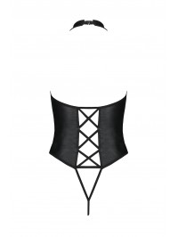 Body ouvert faux cuir Nancy - Passion