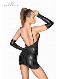 Mini robe wetlook à rayures...