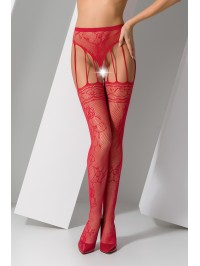 Collants ouverts S016 - Rouge